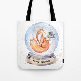 Christmas fox #1 Tote Bag