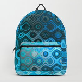 Wobbly Dots Light in cyan blue Backpack