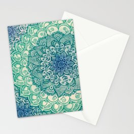 Emerald Doodle Stationery Cards
