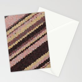 yellow and pink abstract Stationery Cards