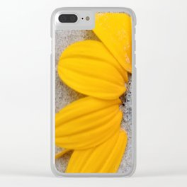 Sunflower in the Sand Clear iPhone Case