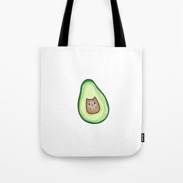 AvoCato Avocado Cat Print Tote Bag
