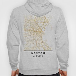 BOSTON MASSACHUSETTS CITY STREET MAP ART Hoody