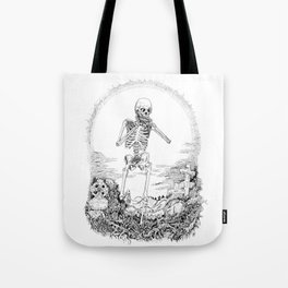 Death and Harmonica Tote Bag