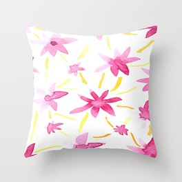 Magenta Love Throw Pillow