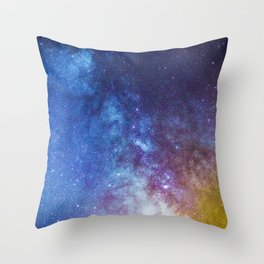 Purple Star Galaxy Throw Pillow