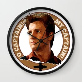 Cpt Malcolm Reynolds // Firefly // Nathan Fillion, Low Poly, Browncoats, Captain Tightpants Wall Clock