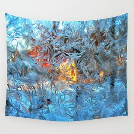 Frozen window Wall Tapestry
