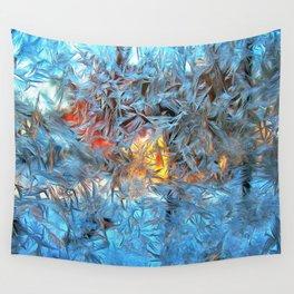Frozen window Wall Tapestry