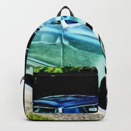 Vintage 1954 Nash Healey Lemans Sports Coupe Painting Backpack