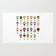 Pixel Star Trek Alphabet Rug