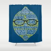lemon Shower Curtains featuring Lemon by Staberella