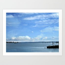 On A Clear Day Art Print