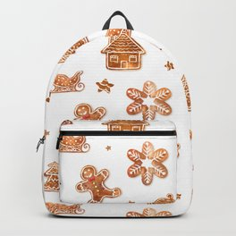 Gingerbread Cookies in White Backpack