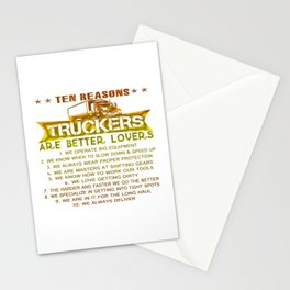 Ten REASONS - TRUCKERS Stationery Cards