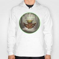 yoda Hoodies featuring Yoda by Marc Vuletich