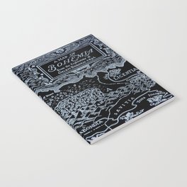 Map of Bohemia (black & white) Notebook