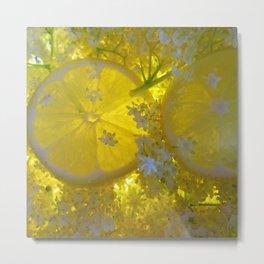 Lemon and Elderflower Metal Print