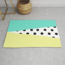 Color Block & Polka Dots Rug