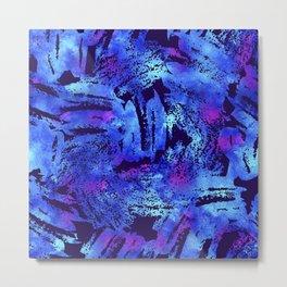 Blue violet cool brush Metal Print