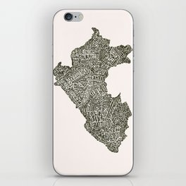 Lettering map of Perú iPhone Skin