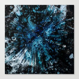 Universum blue deep Canvas Print