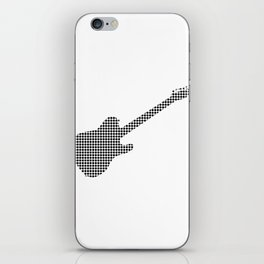 Black Dot Rock Guitar Silhouette iPhone Skin