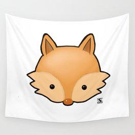 Baby Fox Kawaii Wall Tapestry