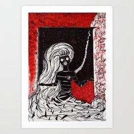 when love is poison Art Print