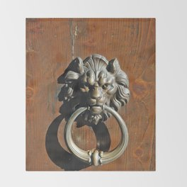 A door knocker in Venice Italy Throw Blanket