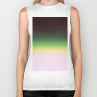 ombre Biker Tanks featuring Forest Ombre by PureVintageLove