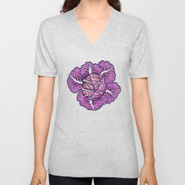 Purple Unisex V-Neck