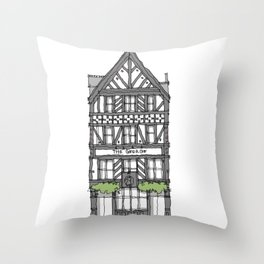 The George Pub London Throw Pillow