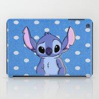 lilo and stitch iPad Cases featuring Lilo and Stitch - Stitch by Julia Kolos