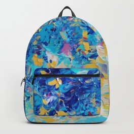 HYPNOTIC BLUE SUNSET - Simply Beautiful Royal Blue Navy Turquoise Aqua Sunrise Abstract Nature Decor Backpack