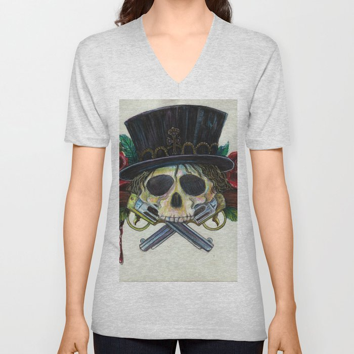 """Snake Eyes"" by KC Krimsin Unisex V-Neck"