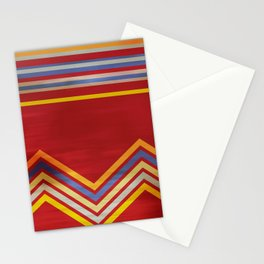 Stripes and Chevrons Ethic Pattern Stationery Cards