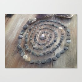 Circle of stones Canvas Print