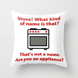 Stove Throw Pillow