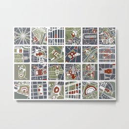Urban fragments I of‪ NewYork‬, ‎Paris‬, London‬, Berlin‬, Rome‬ and Seville Metal Print