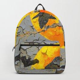 HALLOWEEN NIGHT BATS & RAVEN GOLDEN  MOON Backpack