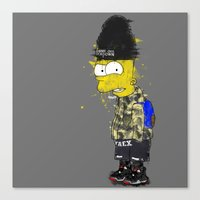 simpson Canvas Prints featuring Bart Simpson by Haych