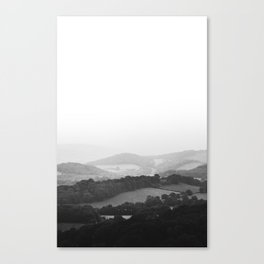 Hill Mist - Black and White Collection Canvas Print
