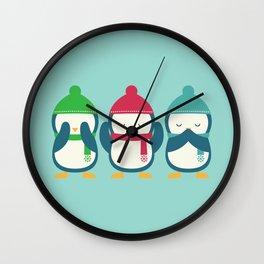 No Evil In Holiday Wall Clock