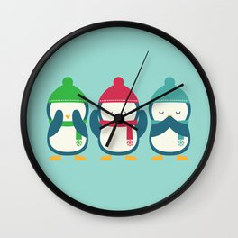 No Evil In Holiday Wall Clock