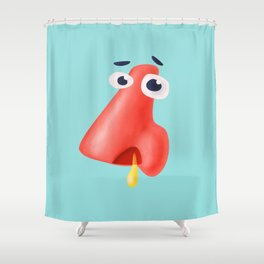 Funny Runny Nose Health Humor Shower Curtain