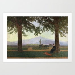 Caspar David Friedrich The Garden Terrace Art Print