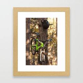 Mountain Biking in the Midwest Framed Art Print