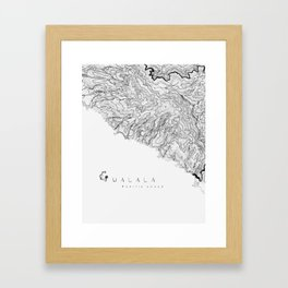 PACIFIC COAST - Gualala Topographic Map Framed Art Print