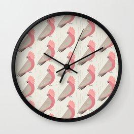 Galah   Pattern Wall Clock